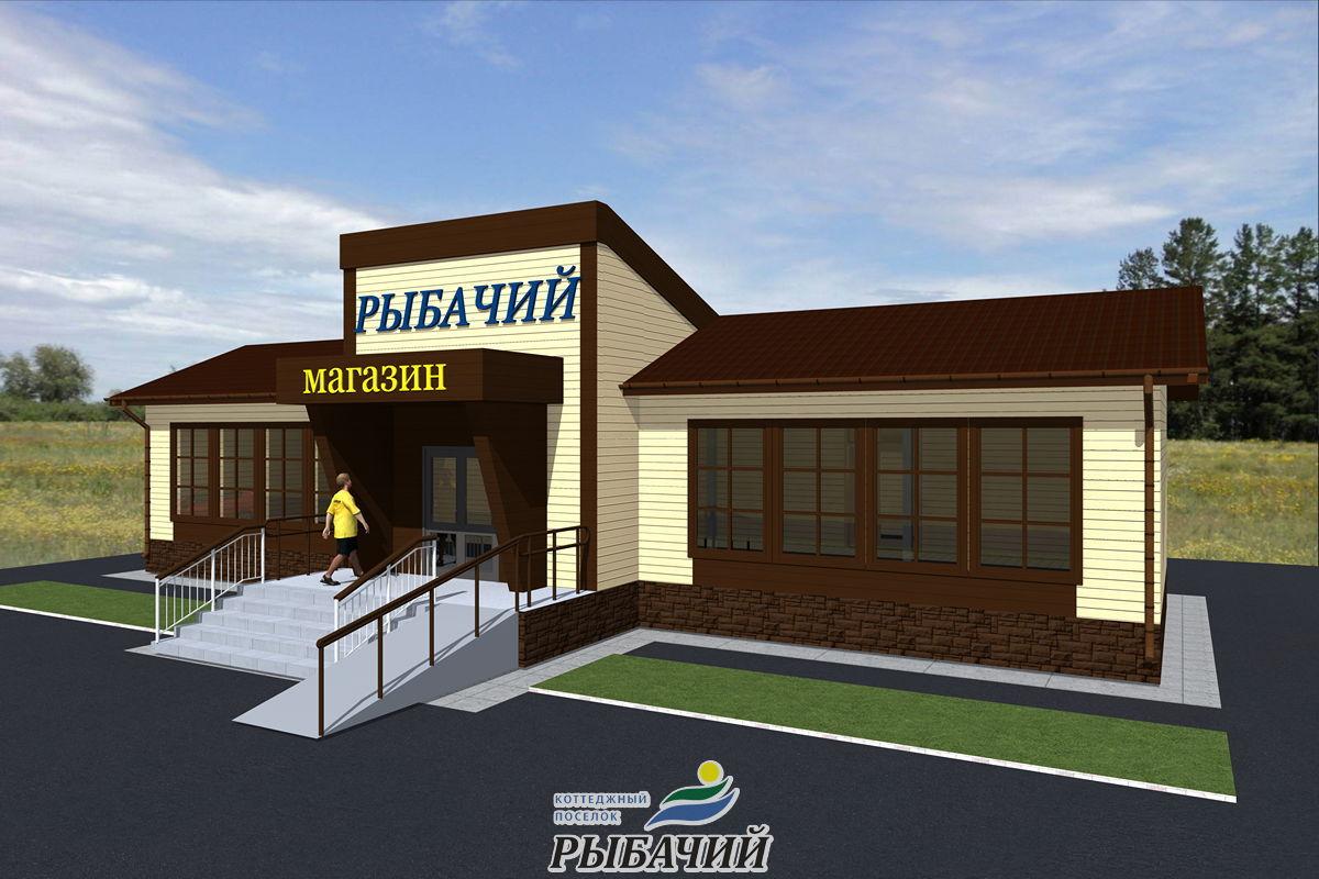 Строительство продуктового магазина