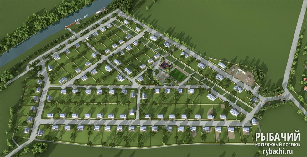 3D-панорама коттеджного посёлка