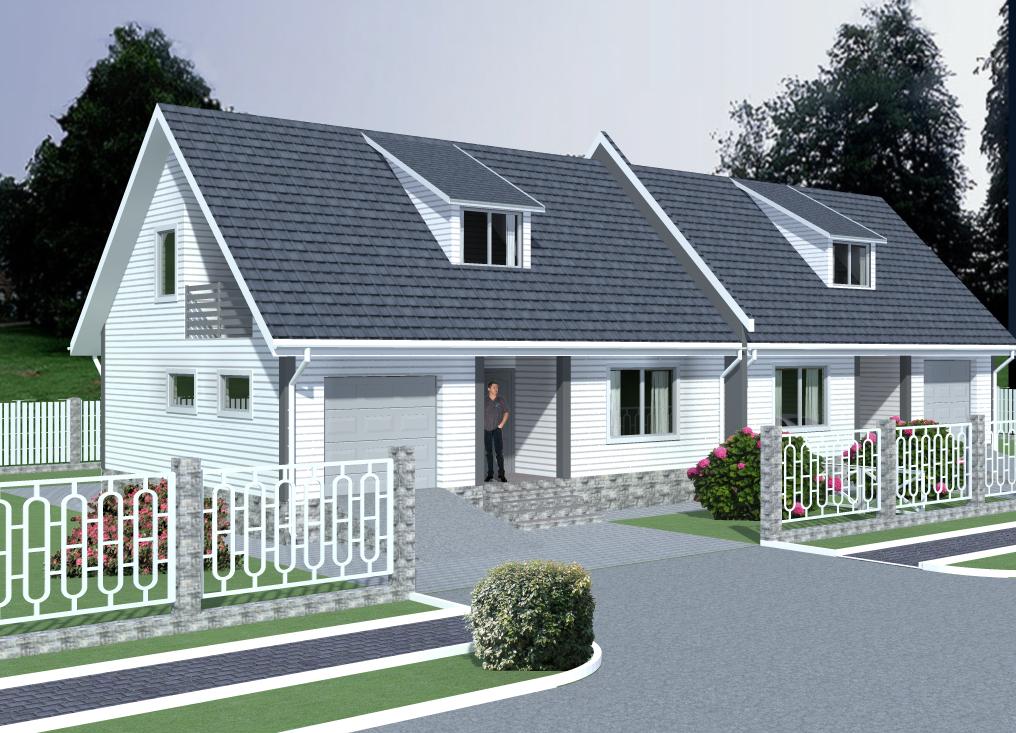 Готовый проект двухквартирного дома